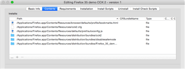 Deploy a Firefox CCK2 package with Munki