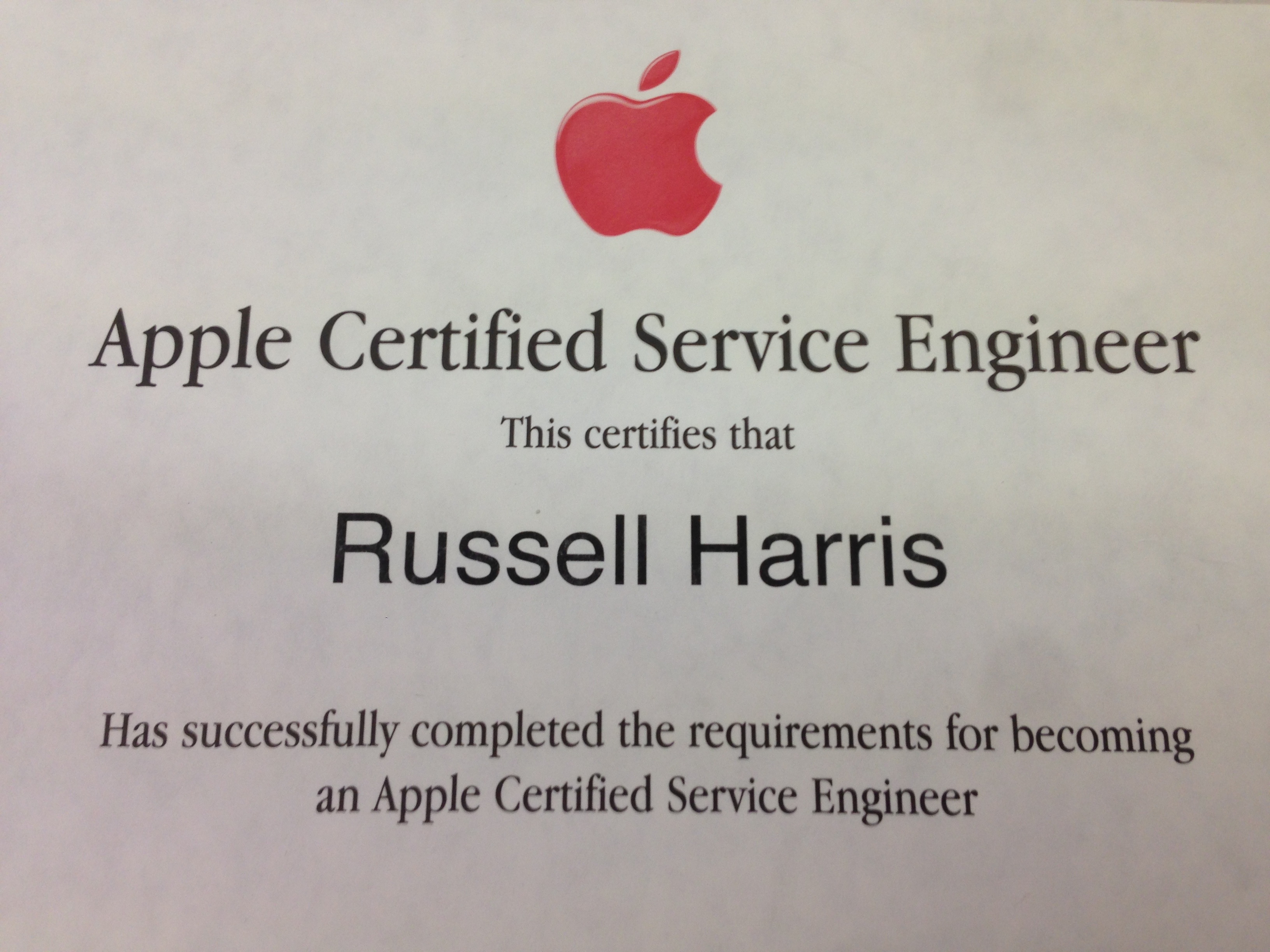 apple certified service engineer