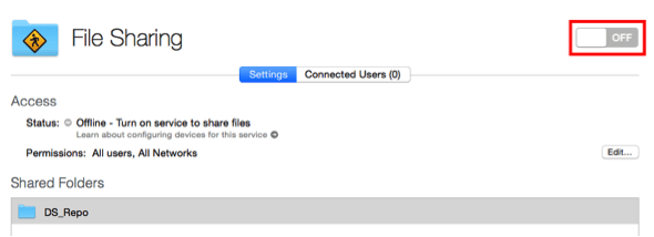 DS - 2- file sharing off