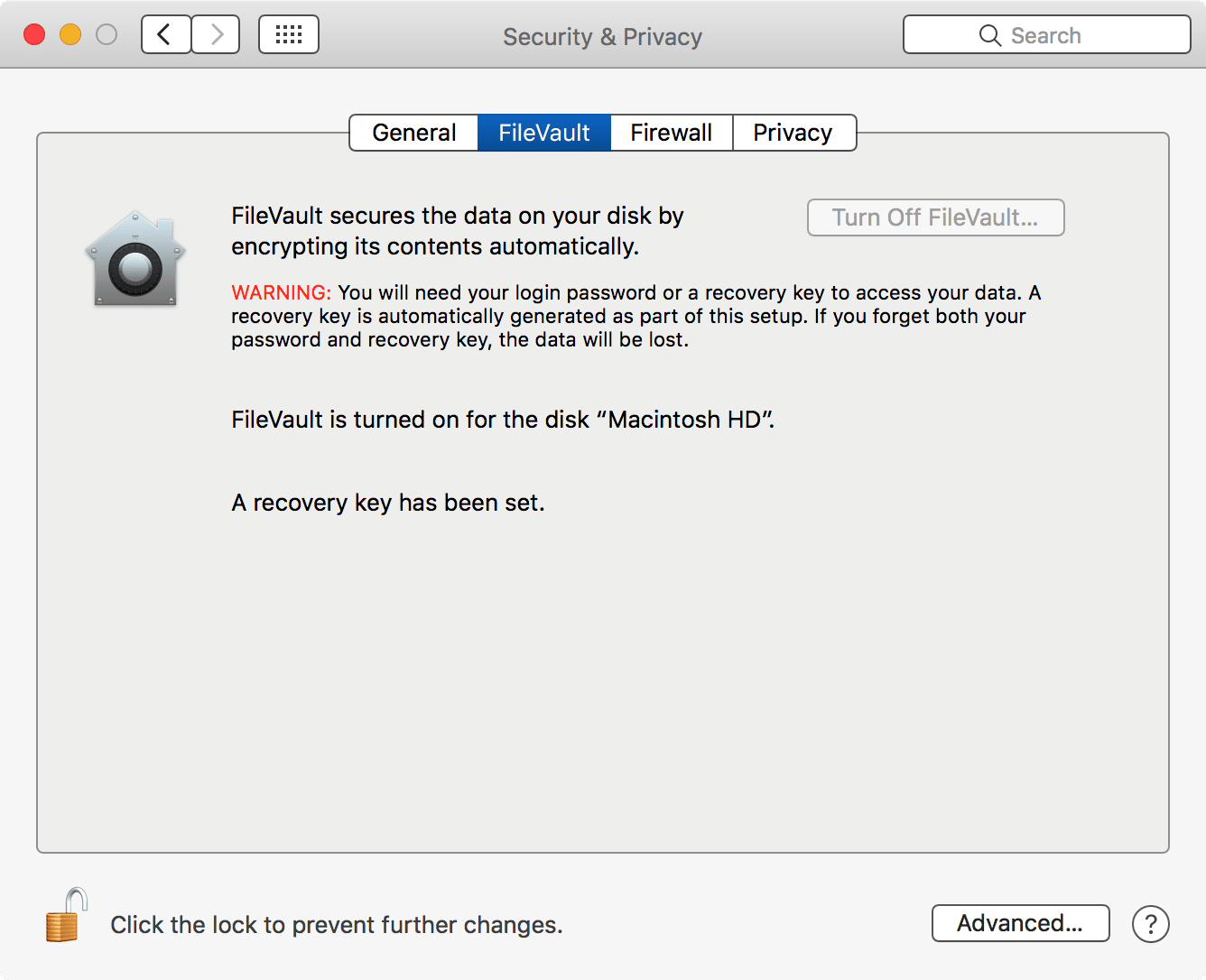 Profile to Enable FileVault 2 only filevault