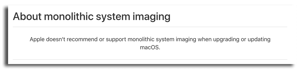 about monolithic system imaging