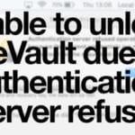 Unable to unlock FileVault due to Authentication Server refusal